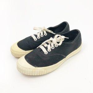 VTG Keds Black and White Rubber Toe Sneakers 7.5